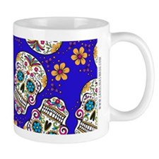 Sugar Skull Midngiht Blue Mugs