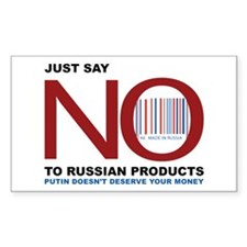 say no to russian Decal