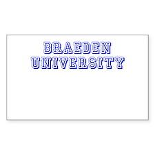 Braeden University Rectangle Decal