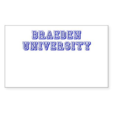 Braeden University Rectangle Sticker