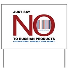 Boycott Russian Products Yard Sign