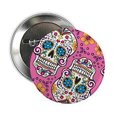 "Sugar Skull Pink 2.25"" Button"