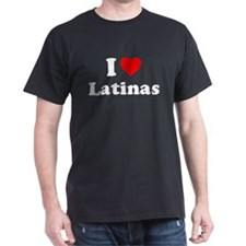 I Love [Heart] Latinas Dark T-Shirt