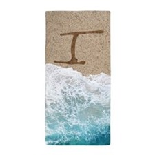 LETTERS IN SAND I Beach Towel