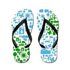 Save The Planet Flip Flops