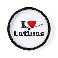 I Love [Heart] Latinas Wall Clock