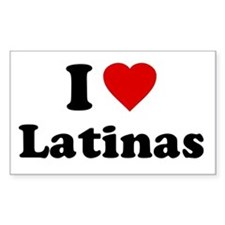 I Love [Heart] Latinas Rectangle Decal