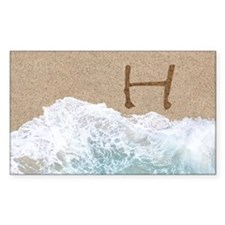 LETTERS IN SAND H Decal