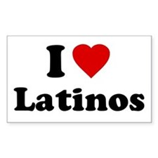 I Love [Heart] Latinos Rectangle Decal