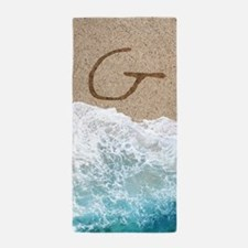 LETTERS IN SAND G Beach Towel