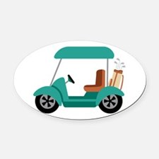 Golf Cart Oval Car Magnet