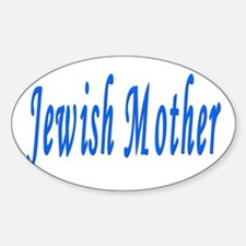 Jewish Mother Oval Decal