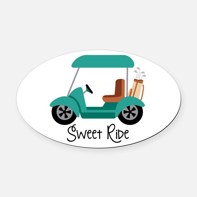 Sweet RiDe Oval Car Magnet