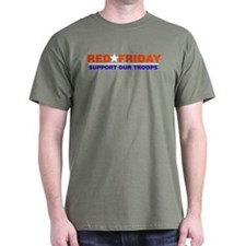 Red Friday Logo Red, White an T-Shirt