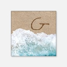 LETTERS IN SAND G Sticker