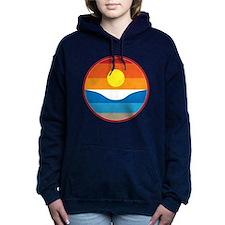 Horizon Sunset Illustration with Hooded Sweatshirt