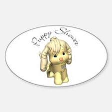 Puppy Shower Gift Cards Oval Decal