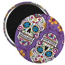 Sugar Skull Purple Magnets