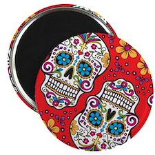 Sugar Skull Red Magnets