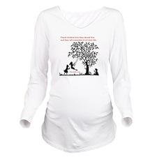 Proverbs 22:6 Long Sleeve Maternity T-Shirt