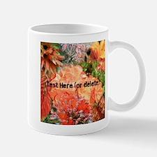 Orange Australian Flower Photo Collage Mug