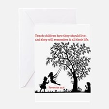 Proverbs 22:6 Greeting Cards