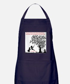 Proverbs 22:6 Apron (dark)