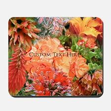 Orange Australian Flower Photo Collage Mousepad
