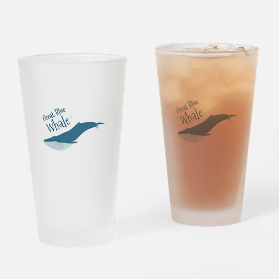 Great Blue Whale Drinking Glass