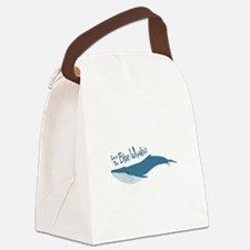 Save The Blue Whales Canvas Lunch Bag