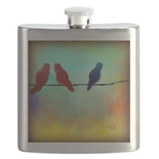 Threes a Crowd Flask