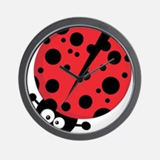 SILLY LADYBUG Wall Clock