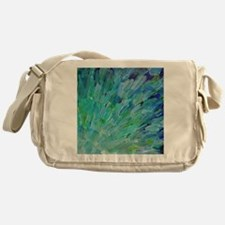Sea Scales - Ocean Waves Abstract Messenger Bag