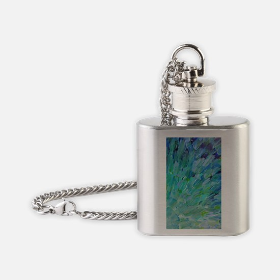 Sea Scales - Ocean Waves Abstract Flask Necklace