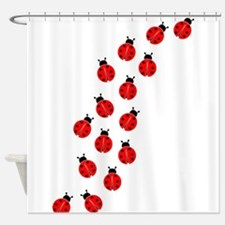 LADYBUG LINE Shower Curtain