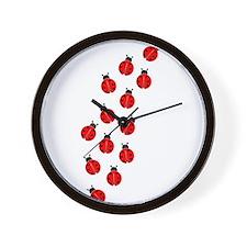 LADYBUG LINE Wall Clock