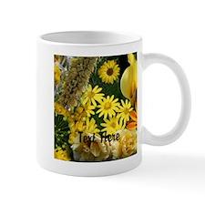 Yellow Flowers Photo Collage Mug