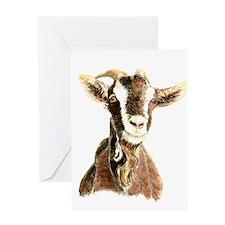Original Watercolor Goat Greeting Cards