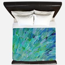 Sea Scales - Ombre Teal Ocean Abstract King Duvet