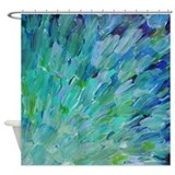 Abstract wave Shower Curtains