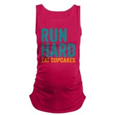Run Hard Eat Cupcakes Maternity Tank Top