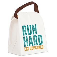 Run Hard Eat Cupcakes Canvas Lunch Bag