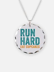 Run Hard Eat Cupcakes Necklace