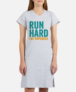 Run Hard Eat Cupcakes Women's Nightshirt