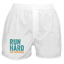 Run Hard Eat Cupcakes Boxer Shorts