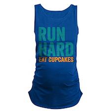Run Hard Eat Cupcakes Maternity Tank Top