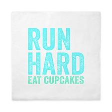 Run Hard Eat Cupcakes Queen Duvet