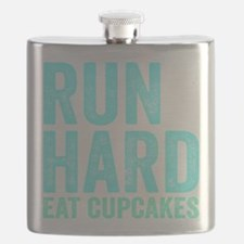 Run Hard Eat Cupcakes Flask