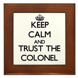 Army colonel Framed Tiles
