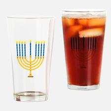 Hanukkah Menorah Drinking Glass